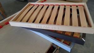 struttura letto a doghe in legno